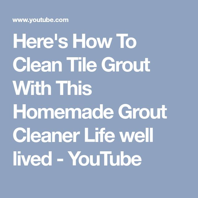 how to clean tile grout with bleach