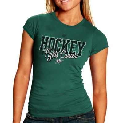 Womens Old Time Hockey Dallas Stars Hockey Fights Cancer T-Shirt -Green