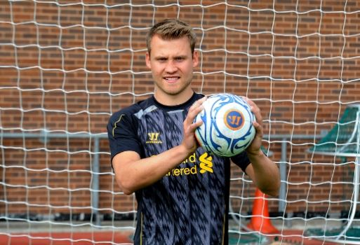 Simon Mignolet in Liverpool shirt