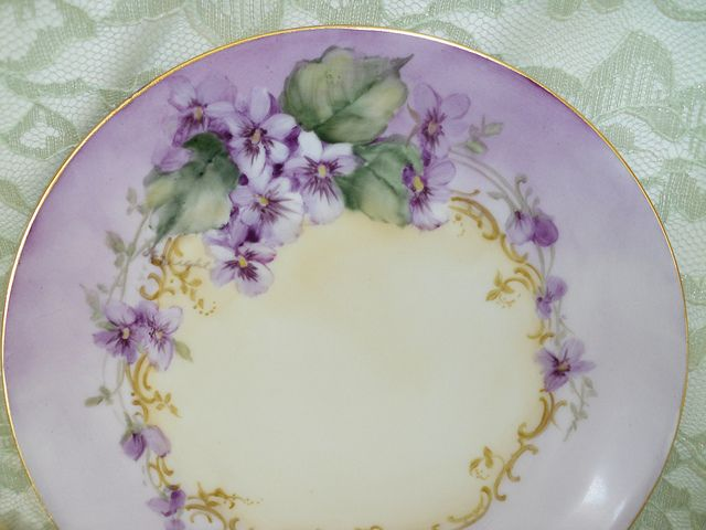 My Grandma Margaret owned The Modern Beauty Shop in the 1940's - 1970's.  Some of her clients were with her that whole time and some of them did hand painted china.  They gave her some, which I now have.  I love the smooth feel of the matte china and the talent of the artists.
