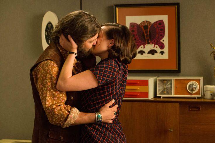 Jay R. Ferguson as Stan Rizzo and Elisabeth Moss as Peggy Olson - Mad Men _ Season 7B, Episode 14 - Photo Credit: Michael Yarish/AMC