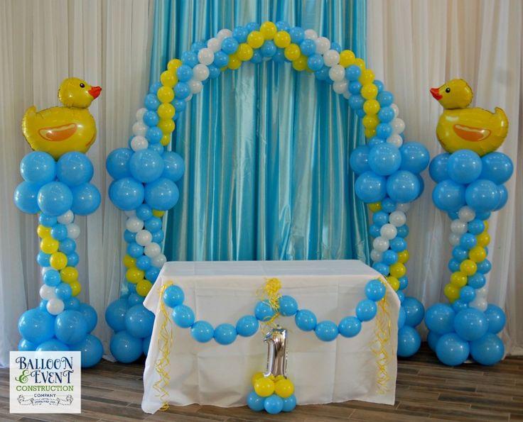 balloon-first-birthday-jacksonville Duck balloon columns