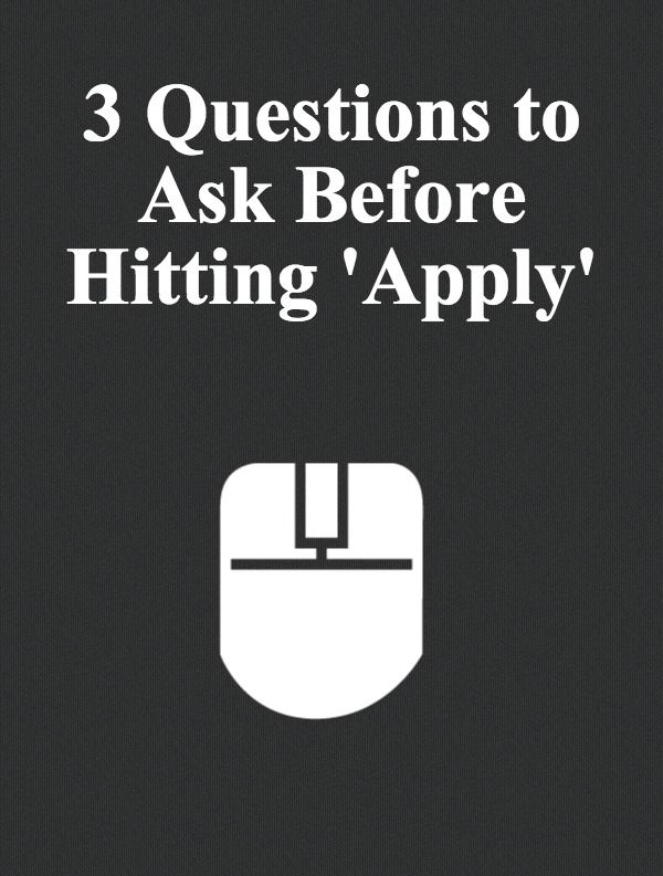 3 Questions To Ask Before Applying To A Job. Job ResumeResume TipsAdministrative  ...