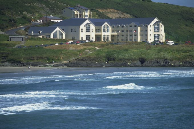 Inchydoney Island Four Star Spa Hotel, This is where I worked, and yes, the sea is that colour.