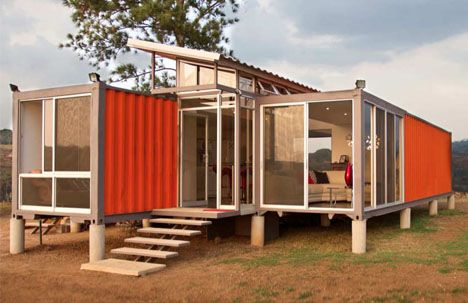 A 40,000-dollar, two-shipping-container house that is not just livable but lovely is itself impressive, but has particular global appeal to those who cannot afford more.: Containerhom, Mobiles Home, Container Homes, Shipping Container Hom, Costa Rica, Ships Container House, Ships Container Home, Shipping Containers,  Manufactured Home