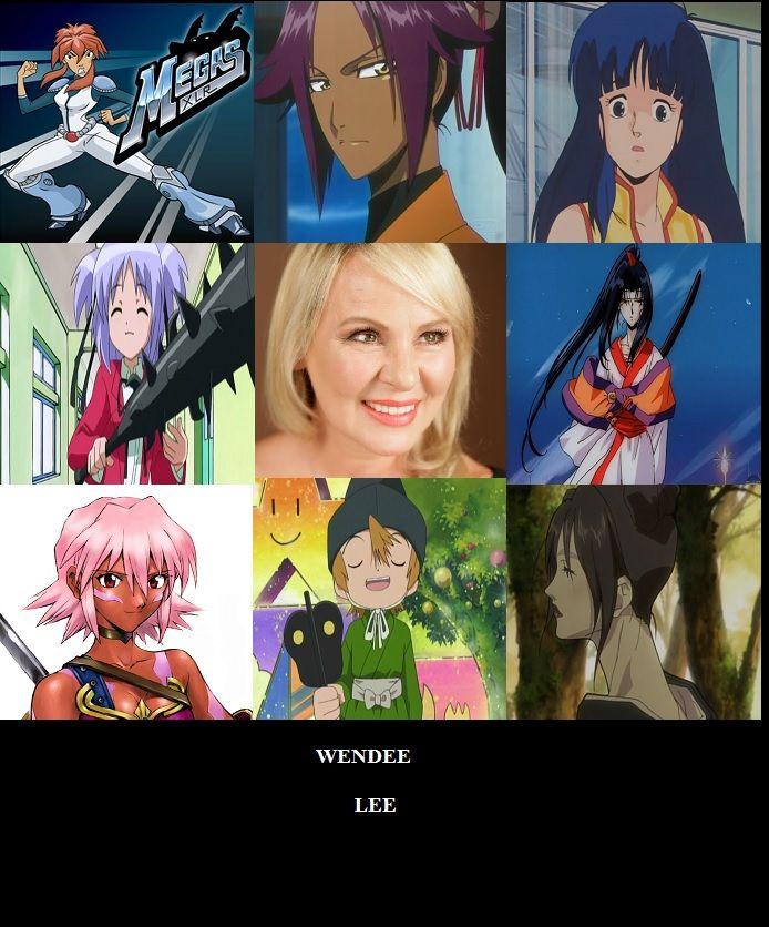 Wendee Lee Voice Actress chart by hakuxtemari.deviantart.com on @DeviantArt