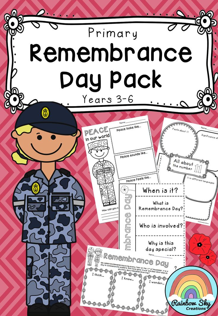 Remembrance Day Pack - For years 3 - 6. Within this resource is a set of 20 learning activities that can be used as a sequenced series of lessons or as individual tasks to teach students about this yearly event. ~ Rainbow Sky Creations ~