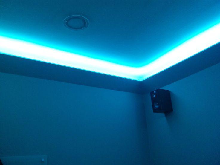 Cornisa para iluminación con tira LED | Cornisa de pladur ...