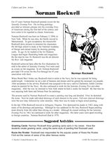 The story of Norman Rockwell and related activities (Grades 5-8) #ArtHistory #Artists
