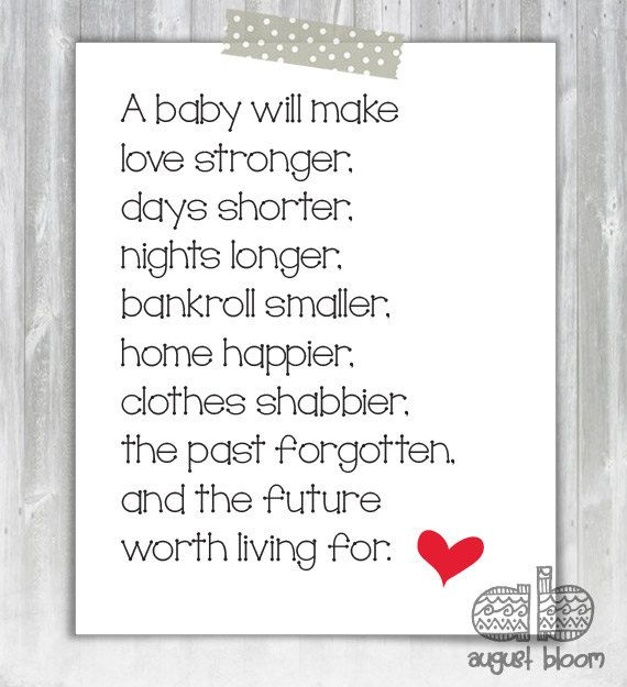 New Baby Poem  Baby Shower Poem  Poem for by AugustBloomDesigns