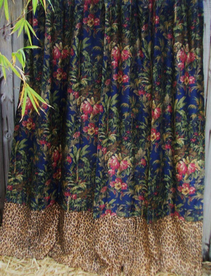 Rayomnd Waites Midnight Safari Fabric Shower Curtain