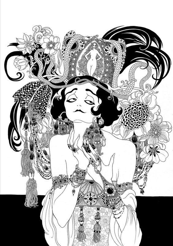 Pola Negri caricature