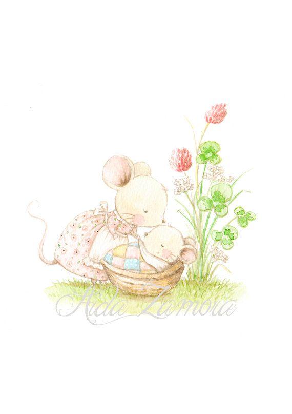 Nursery Art Go to SLEEP BABY Art Print Chidren's por AidaZamora