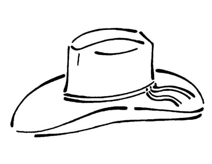Pin Cowboy Hat Coloring Page On Pinterest