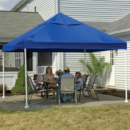 ShelterLogic 12 X Celebration Blue Canopy Features An Attractive Polyester Fabric Cover That