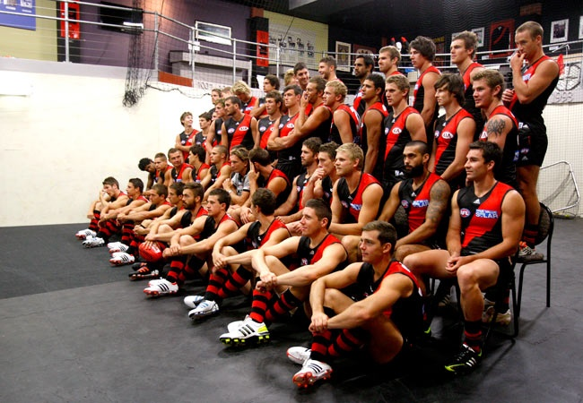 2012 Essendon Bombers team photo