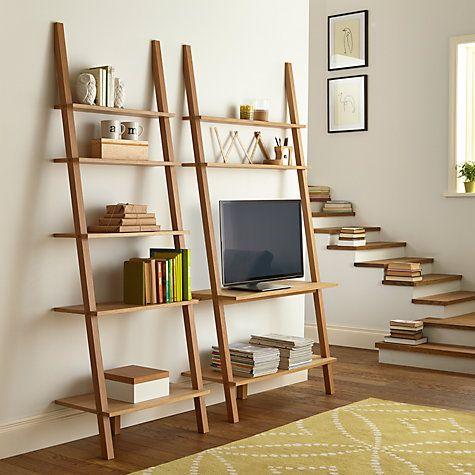 the 25 best leaning shelves ideas on pinterest leaning ladder shelf wood rack and ladder shelves. Black Bedroom Furniture Sets. Home Design Ideas