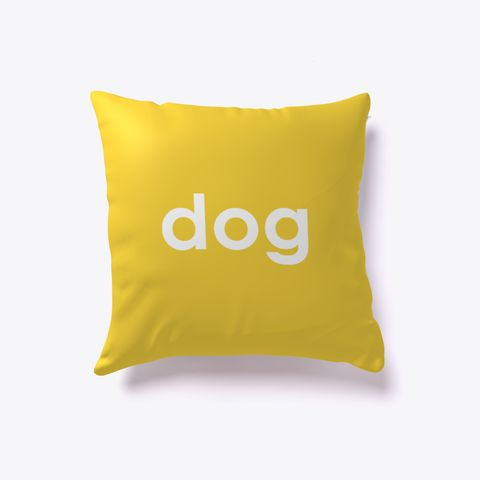Dog And Cat Reversible Pillow Yellow. Dog lover? Cat lover? Evenly split household? Now you can show your love for both with our reversible dog-cat pillow. Just turn it over to impress guests who love one over the other. Buy one today!