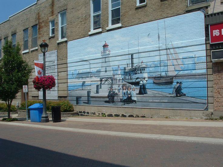 Mural of the Kincardine Harbour by Allen C. Hilgendorf