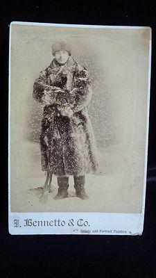 Antique Cabinet Photograph Trapper Hunter Fur Coat Gun Winnipeg Canada 1882   eBay