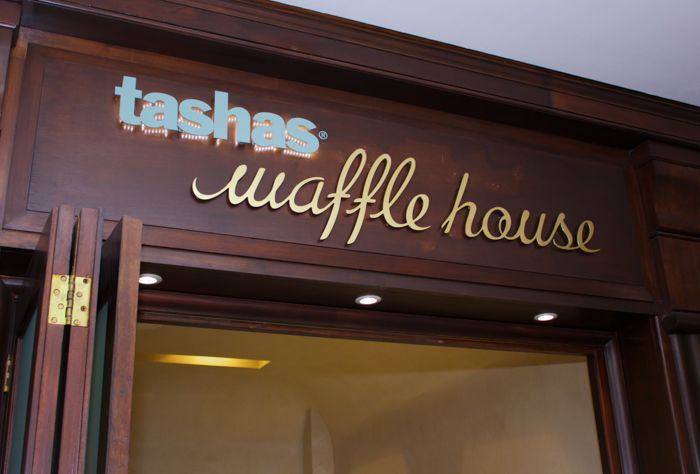 tashas waffle houses are like the Willy Wonka's chocolate factory! Pink, blue and marble make up the interior design elements at the Constantia Village Cape Town branch, carried through in the turkish delight and ice cream toppings galore!  Visit www.rudischoice.co.za to find your dream marble and granite surfaces today!