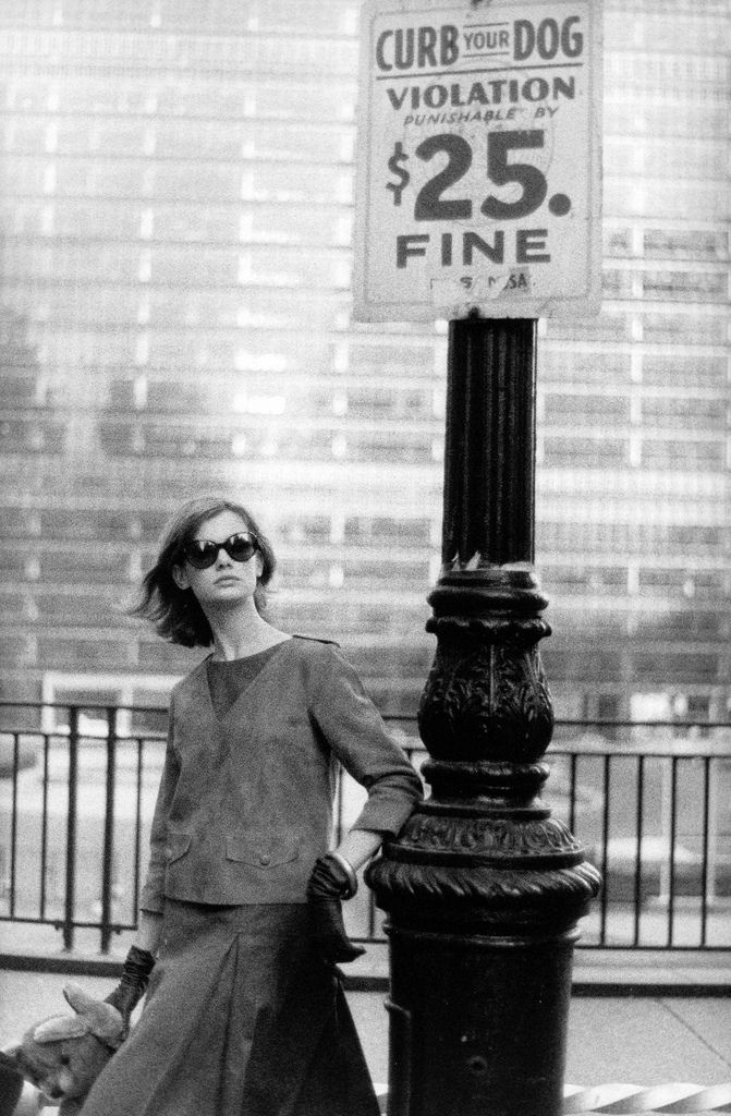 Jean Shrimpton in New York City photographed by David Bailey for Vogue, 1962.