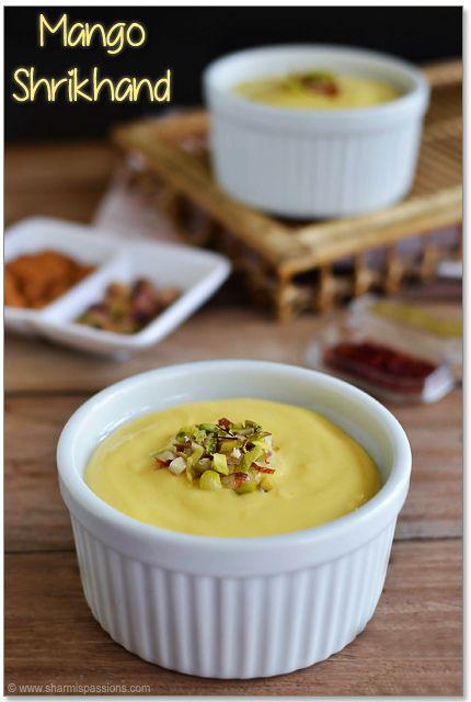 Mango Shrikhand   Indian Recipes   Pinterest