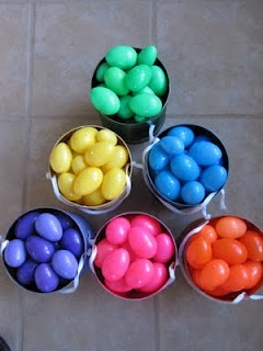 color coded easter egg hunt ~ totally fair for all kiddos