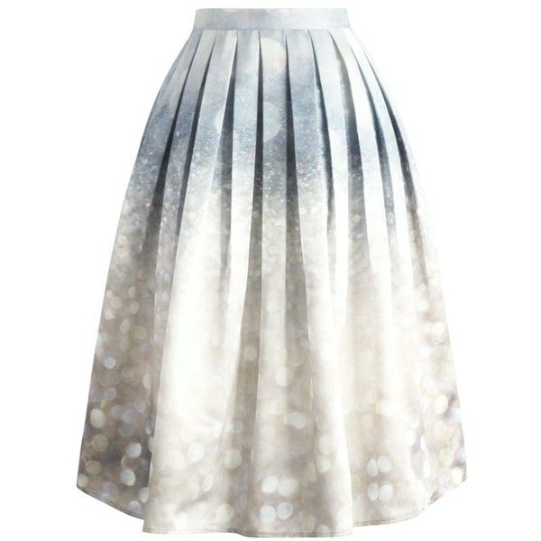 Chicwish Glorious Sparkles Print Midi Skirt ($49) ❤ liked on Polyvore featuring skirts, bottoms, multi, mid-calf skirt, white midi skirt, midi skirt, calf length skirts et print skirt