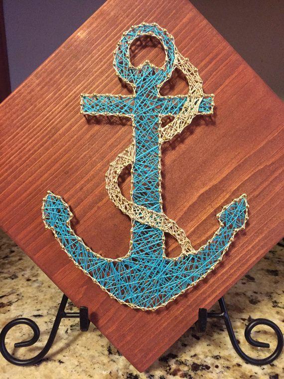 Anchor String art nautical art nautical string art beach