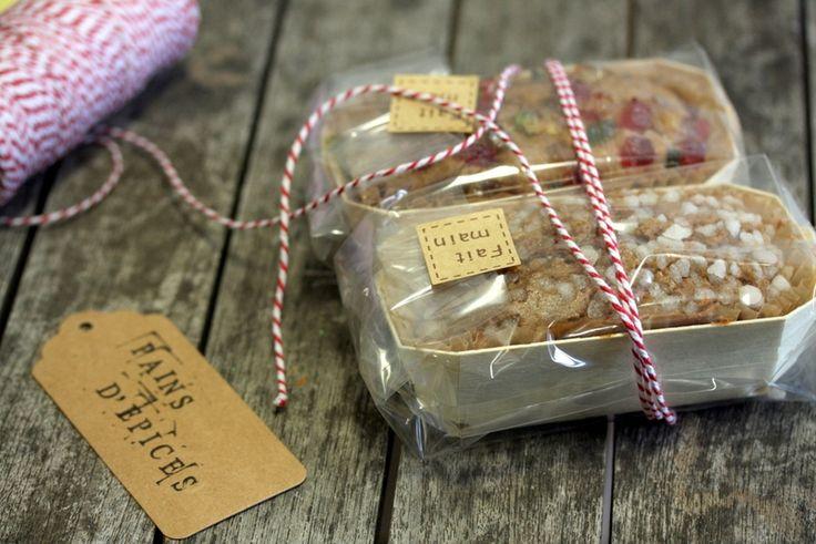 Mini pains d'épices pour des paniers gourmands de Noël