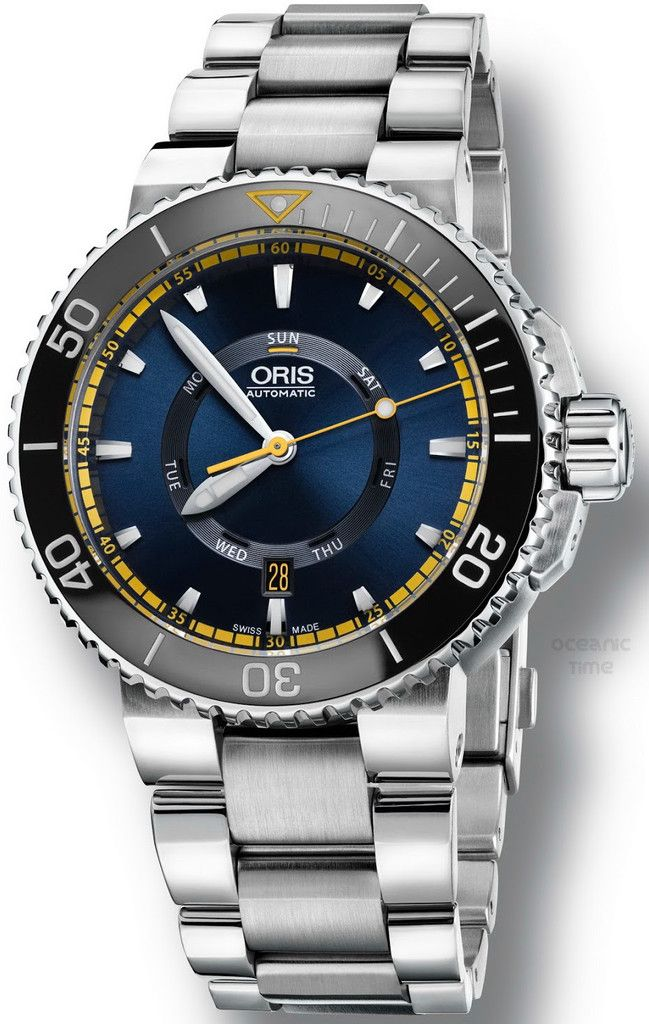 @oris Watch Aquis Great Barrier Reef Limited Edition Set #basel-16 #bezel-uni-directional #bracelet-strap-steel #brand-oris #case-material-steel #case-width-46mm #delivery-timescale-call-us #description-done #dial-colour-blue #gender-mens #limited-edition