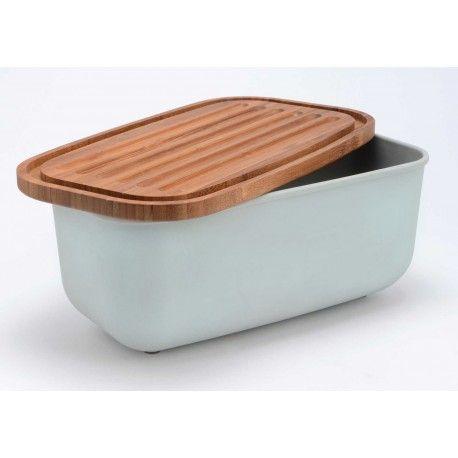 Krásný designový chlebník s dřevěným prkénkem, z dílny francouzských návrhářů.