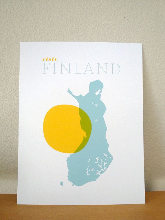 Visit Finland. By finka studio at etsy.