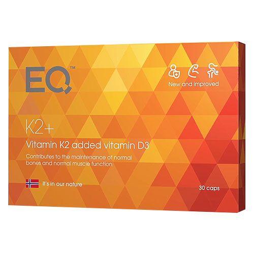 EQ K2 Plus - Eqology Een anti-veroudering vitamine voor de bevordering van gezonde botten, tanden en bloedvaten. Het brengt de kalk naar de plekken waar het thuis hoort!
