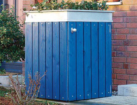 Wir zeigen eine Lösung, wie Sie Ihre Mülltonne verkleiden können: Die Mülltonnenbox aus Holz ist mithilfe unserer Bauanleitung leicht zu bauen