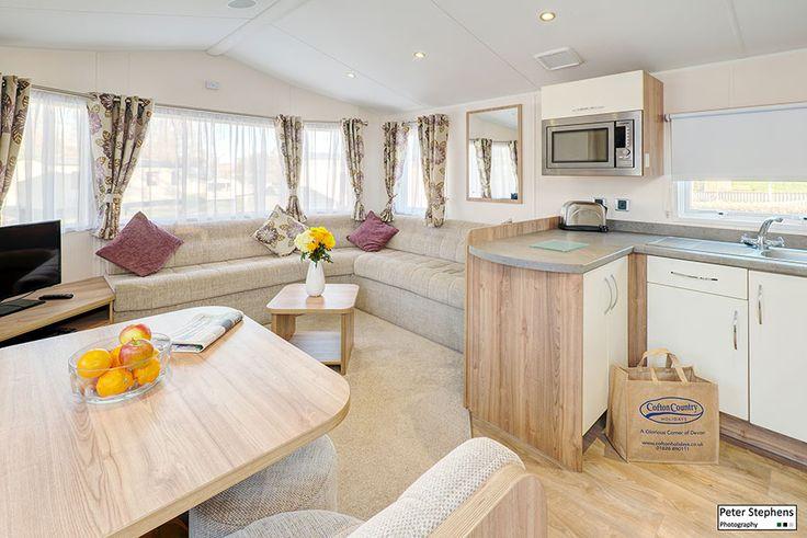 Living room inside a static caravan