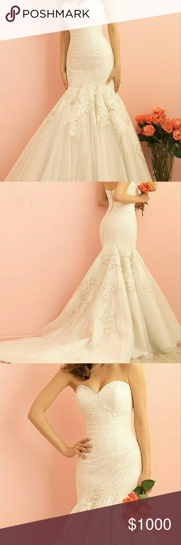 Allure Romance Wedding Gown Allure Romance Wedding gown size 12 (fits size 8). Never worn. Paid $2,856.00 still has tags. Color: Chocolate Ivory. NWT. Allure Bridals Dresses Wedding