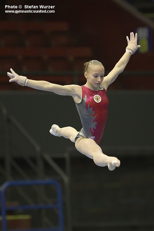 Ksenia Semenova is a fantastic gymnast from Russia.  This photo was from back in 2009.   elite, WAG, Olympian, gymnastics  #KyFun