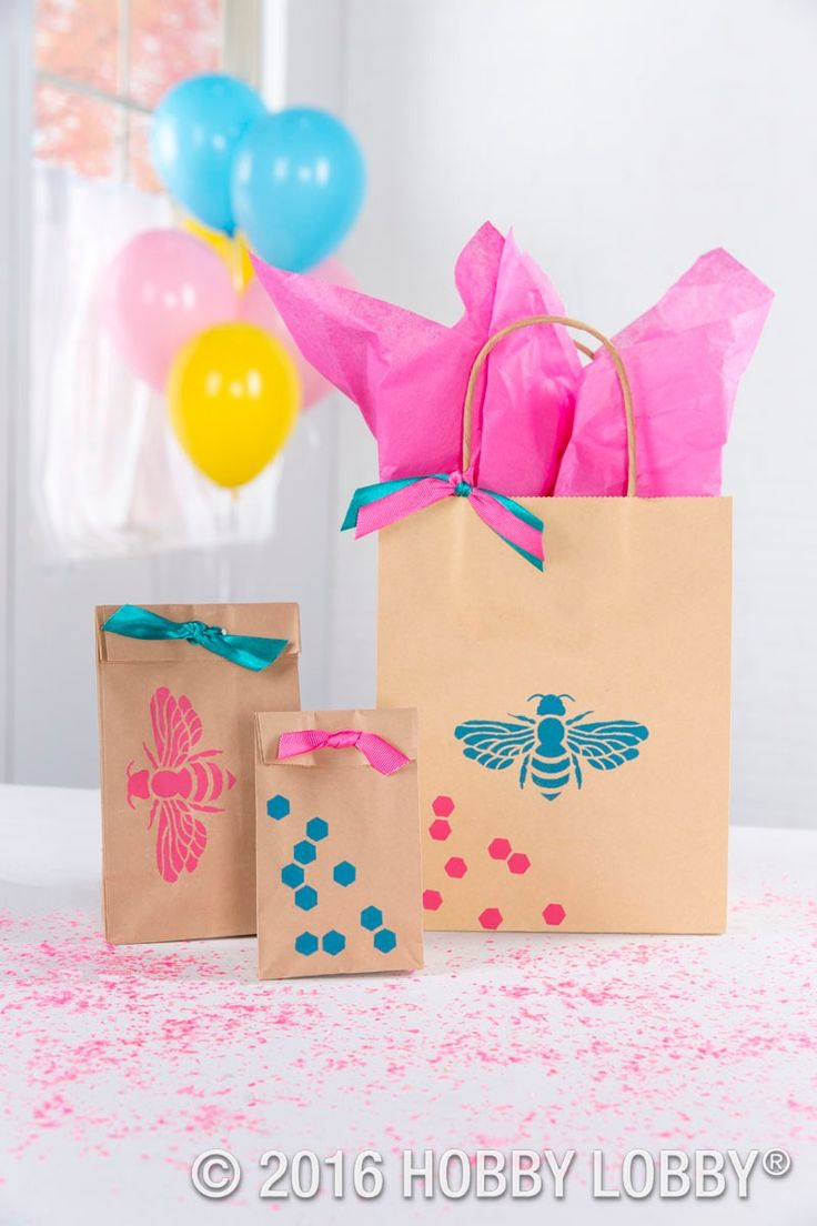 Hobby lobby craft bags - From Hobby Lobby Add Beautiful Stenciled Designs To Plain Bags For Customized Gift Wrap