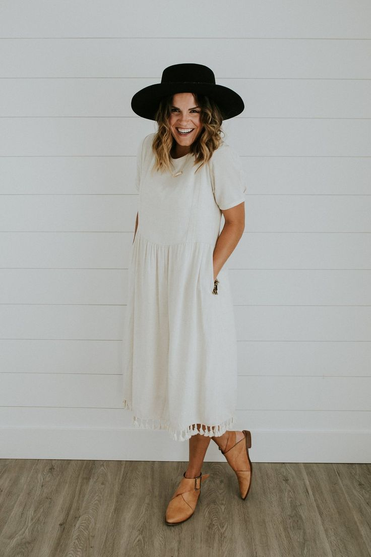 White Linen Dress | ROOLEE