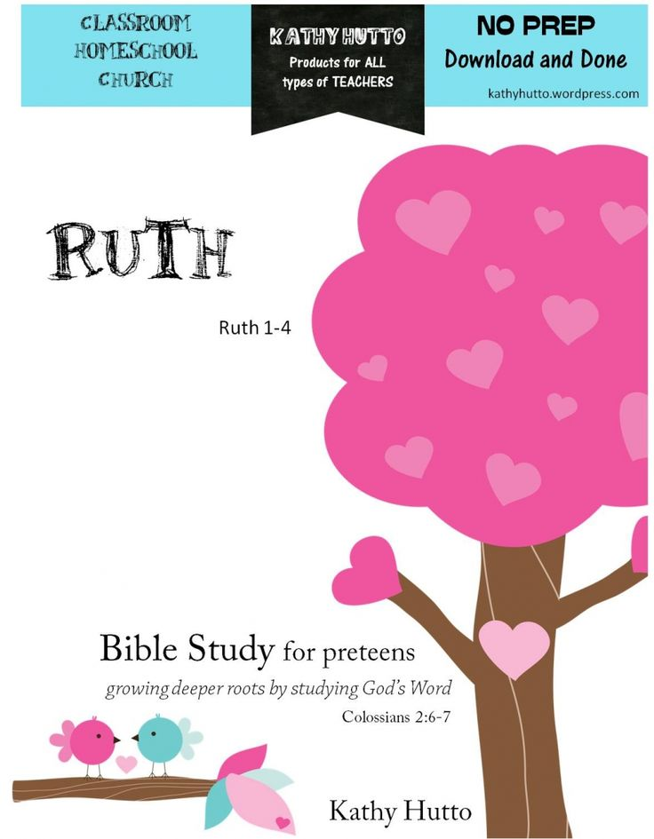 Bible Study for preteens - Ruth - Kathy Hutto | CurrClick                                                                                                                                                                                 More