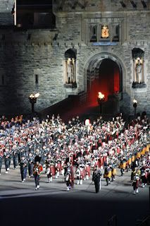 Massed Bands.  Hullo ma wee blog,   Last night we went to see the Edinburgh Tattoo. This is one of the highlights of the Edinburgh Festival ...