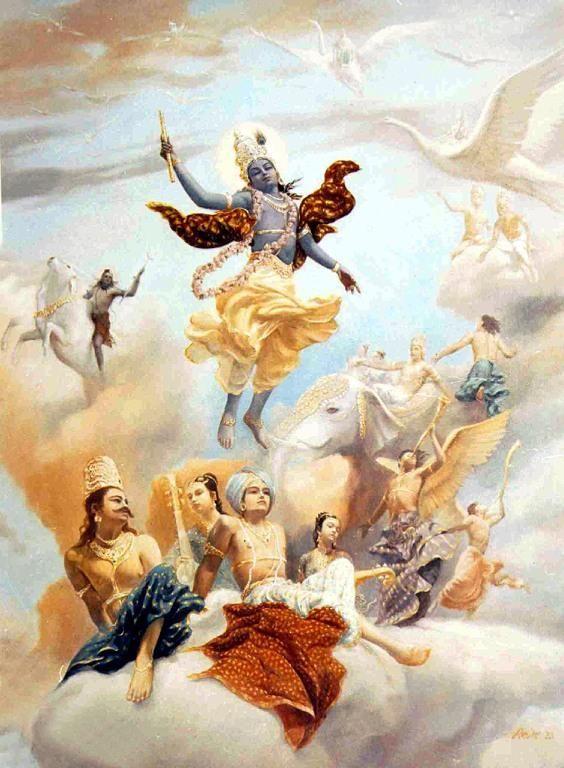 Господь Кришна покидает планету