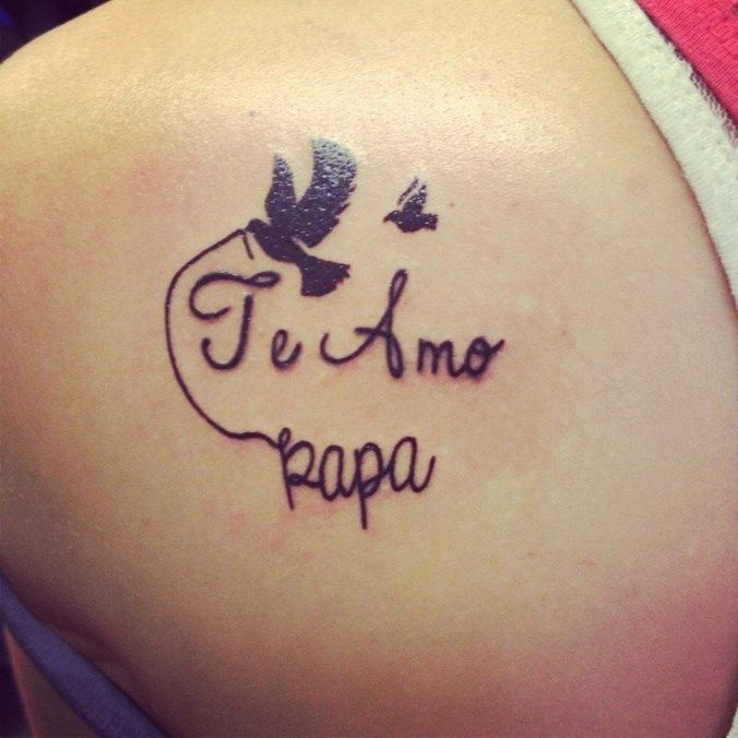 Frase: Te amo papá & Aves