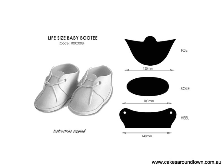 Life Size Baby Bootee Cutters JEM