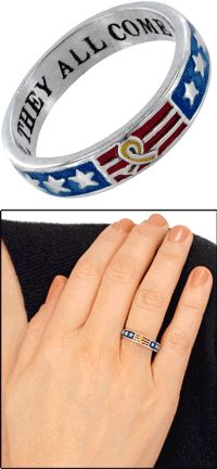 Until They All Come Home™ Yellow Ribbon Sterling Ring at The Veterans Site