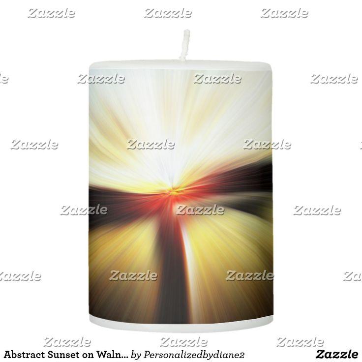zazzle wedding invitations promo code%0A Abstract Sunset on Walnut Street Bridge TN Pillar Candle