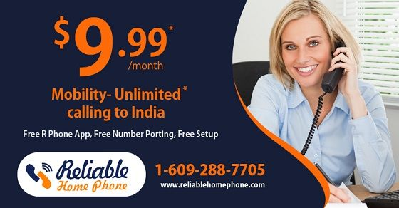 Start #enjoying ultra #low-cost #Home phone #service with #Reliable. Get #unlimited #international calling #plans with crystal clear calls Contact us: Toll Free: +1-888-778-9335, www.reliablehomephone.com