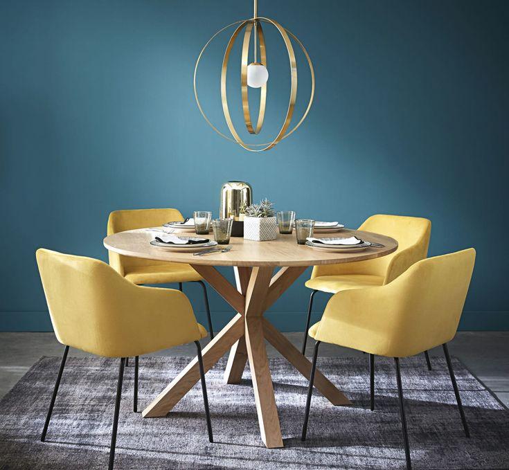 Tavolo da pranzo rotondo 6 persone in legno massello di